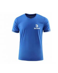 Bezateli blue ice crew neck short sleeve sports T-shirt