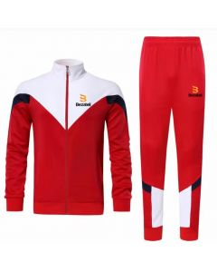 Bezateli New Gen Red Polar Fleece Tracksuit