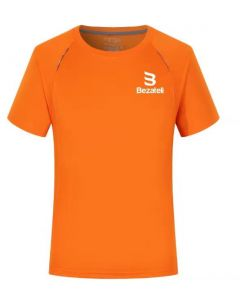 Bezateli orange sports T-shirt with visibility stripe