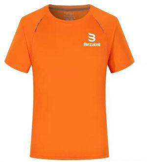 Bezateli orange sports T-shirt with visibility stripe