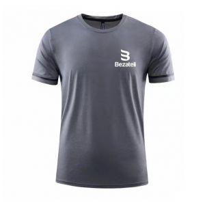 Bezateli ice crew neck short sleeve sports T-shirt-Charcoal