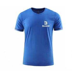 Bezateli blue ice crew neck short sleeve sports T-shirt
